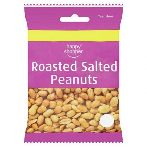 Happy Shopper Roasted Salted Peanuts 80g (UK)